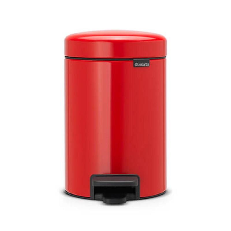 Brabantia Pedalette 3 Liter.Brabantia Newicon Pedaalemmer 3 Ltr Red Pedalette
