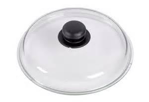 Glasdeksel 24cm met knop