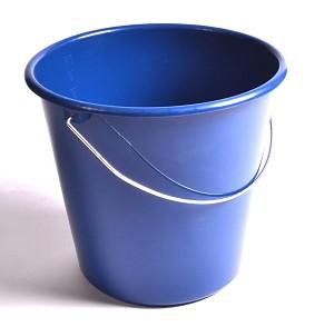 Emmer 10ltr blauw kunststof