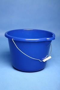 Emmer 12ltr blauw met schenktuit