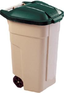 Curver afvalbak 110ltr verrijdbaar