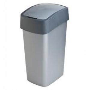 Curver Flip Bin afvalbak 50ltr zilver