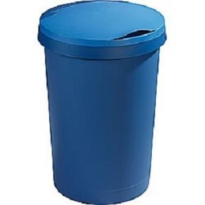 Afvalbak 45ltr Sunware plat deksel Blauw