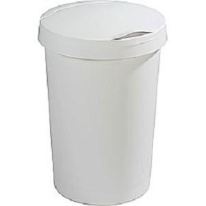 Afvalbak 45ltr Sunware Wit plat deksel