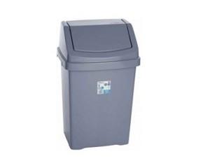 Afvalbak 50ltr kunststof  Grijs