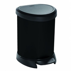 Curver Deco Bin pedaalemmer 5ltr Zwart