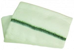 Dweil geweven groene streep 60x60