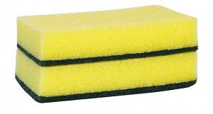 Schuurspons geel/groen a10 stuks
