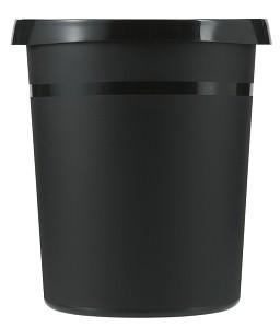 Papiermandje kunststof 18 lt zwart