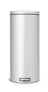 Brabantia Silent Pedaal 30L Metal Grey