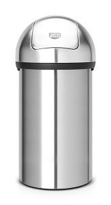 Brabantia Push Bin 60L Matt Steel