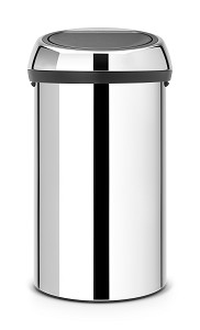 Brabantia Touch Bin 60L Brilliant Steel