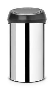 Brabantia Touch Bin 60L Brilliant/ zwart