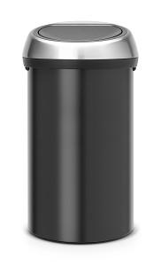 Brabantia Touch Bin 60L Zwart / Matt FPP