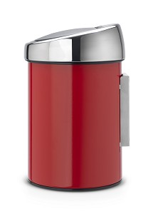 Brabantia Touch Bin wand 3L Red