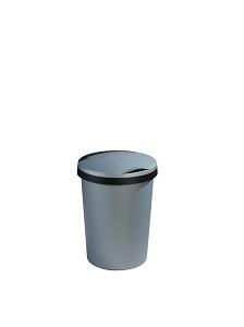 Afvalbak 10ltr Sunware Twinga metaal/zw