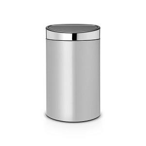 Brabantia Touch Bin 40L metal grey/ bril