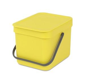 Brabantia Sort & Go afvalemmer 6L geel