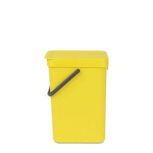 Brabantia Sort & Go afvalemmer 12l geel